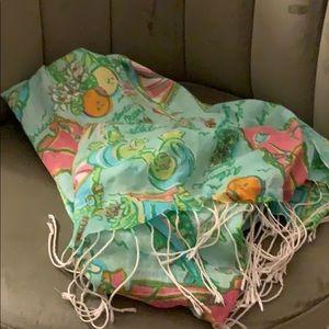 Lilly Pulitzer Florida murfee scarf EUC